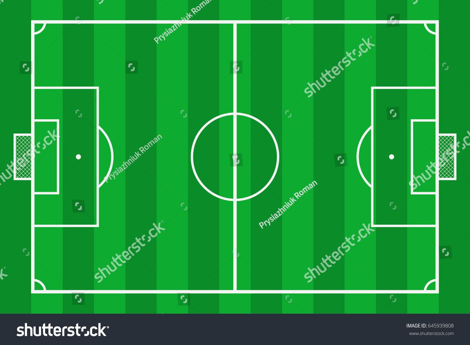 Soccer Field Green Grass Football Court Mockup Background Field For Sport Strategy And Poster Vector Il Soccer Field Green Grass Responsive Website Template