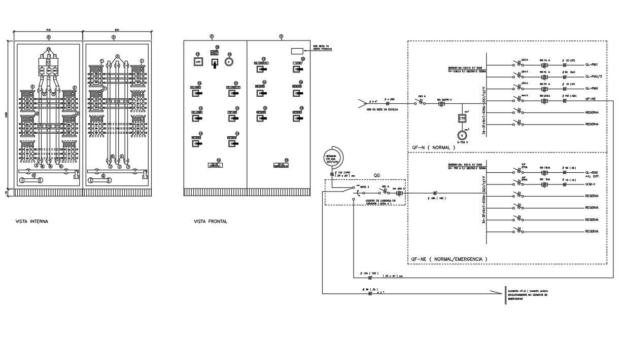 2D AutoCAD Drawing of the Electrical Installation project
