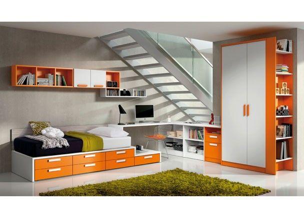 Dormitorio Juvenil Con Distribucion Original Y Abierta Casa - Dormitorios-originales-juveniles