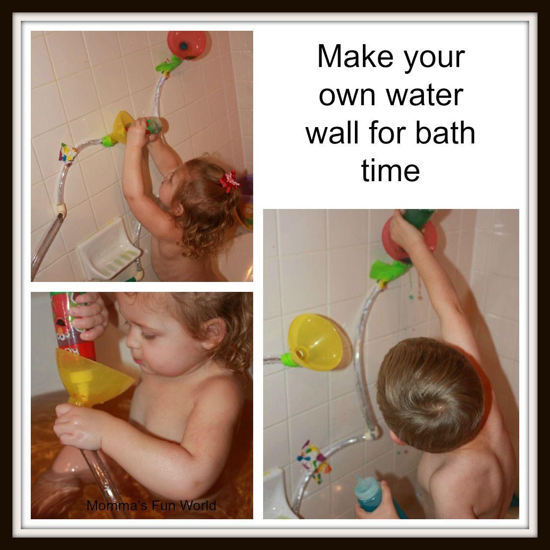 Momma\'s Fun World: Make your own bath water wall | Kids Bath Time ...