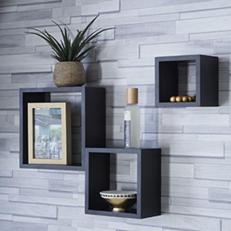 Etageres Murale 3 Cubes Deco Maison Decor Salon Maison Parement Mural