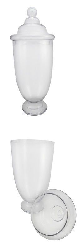 Large Decorative Glass Jars With Lids Canisters And Jars 20654 Large Decorative Glass Apothecary Jar
