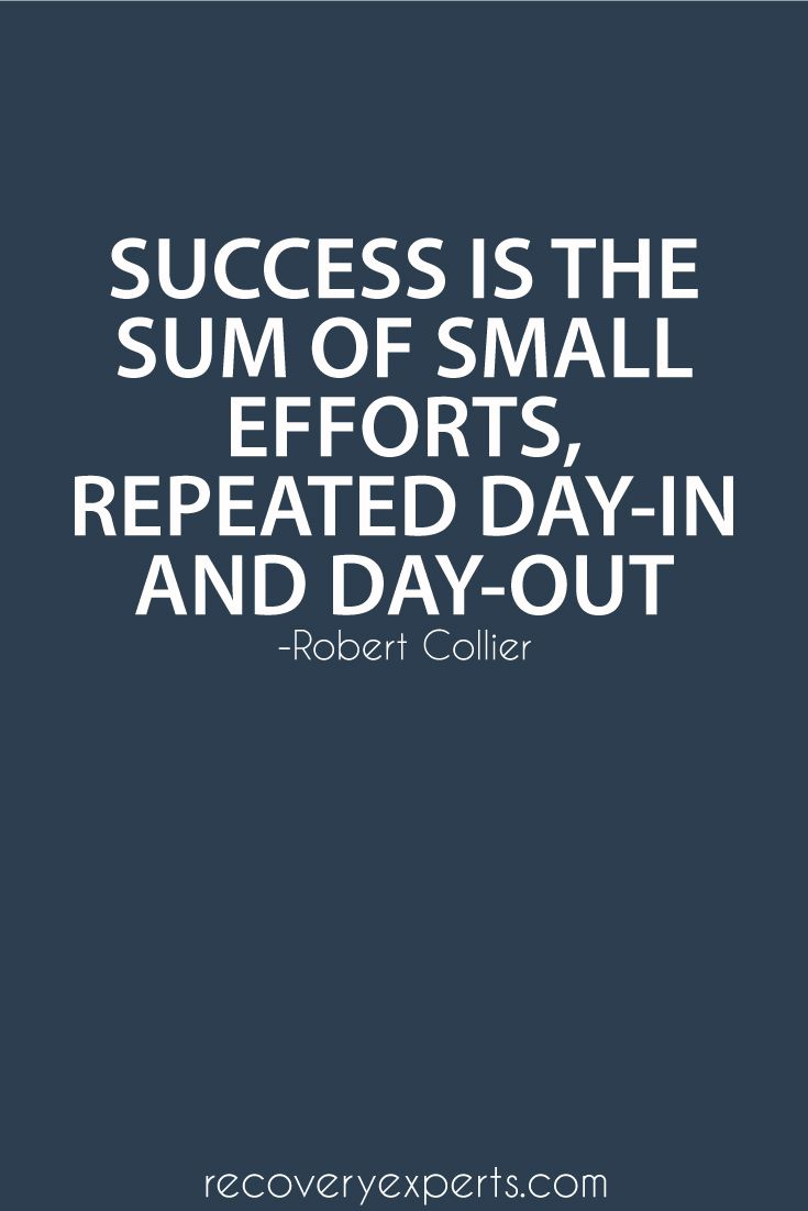 Motivational Quote Success is the sum of small efforts