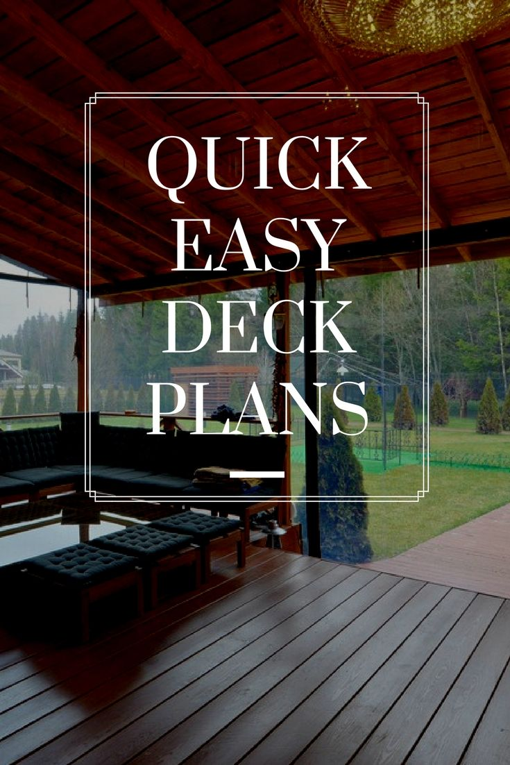 Teds woodworking 16000 woodworking plans projects with videos quick easy deck plans learn how to build your deck yourself save time and money with these easy deck plans solutioingenieria Images