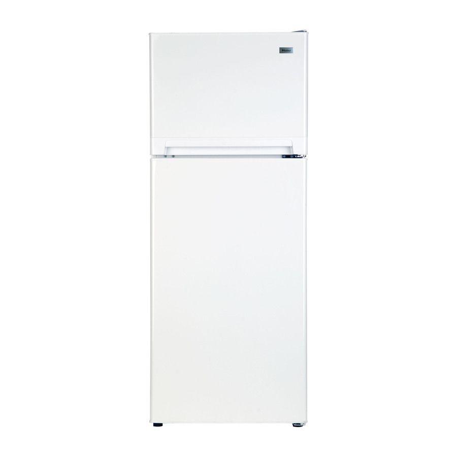 Haier 10 11 Cu Ft Top Freezer Refrigerator White Item 644614 Model Ha10tg31sw Apartment Refrigerator Top Freezer Refrigerator Refrigerator