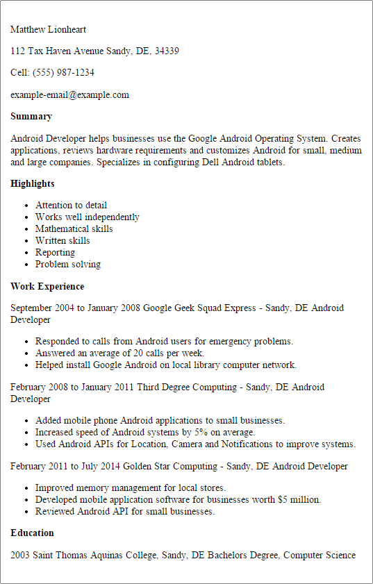 5 Star Resume Sample Template Professional Examples Tax Dissertation Example