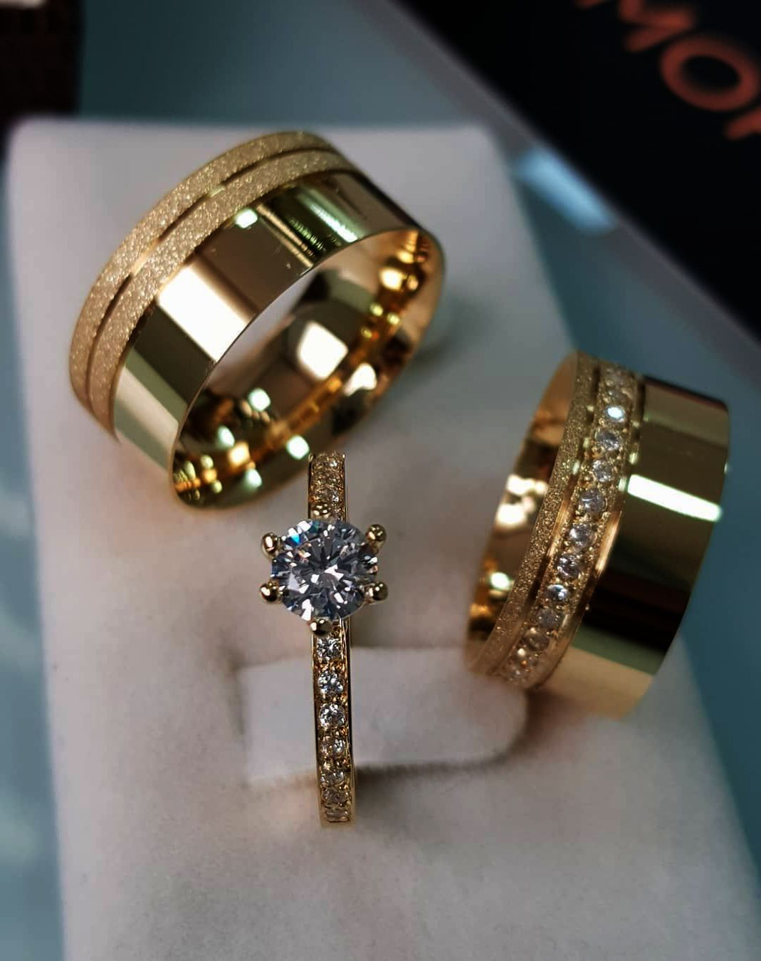 Aegean Jewelry Beast and Beauty Love Style Wedding Band Set Engagement Promise Anniversary Couple Ring