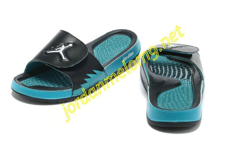 bd90fe44b Jordan Hydro 5 Mens Slides Sandals Black Chlorine Blue White