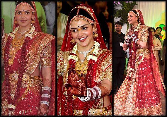 Esha Mehndi Ceremony : Esha deol real life bridal look view pics bollywood celebs