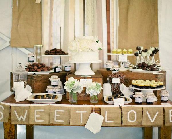 chic wedding dessert table ideas