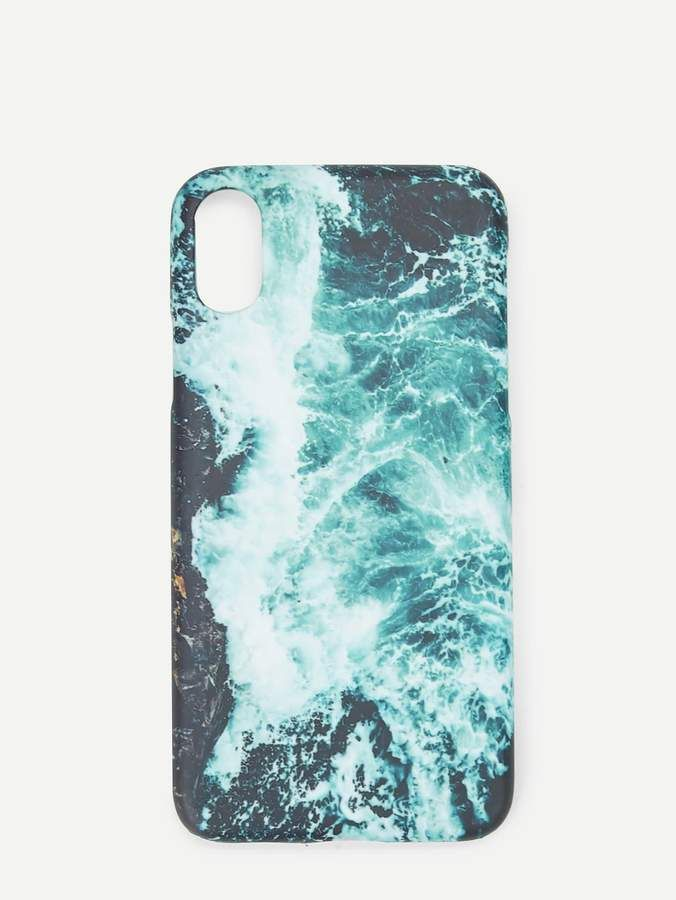 6154926dfc Shein Waves Print iPhone Case in 2019 | Products