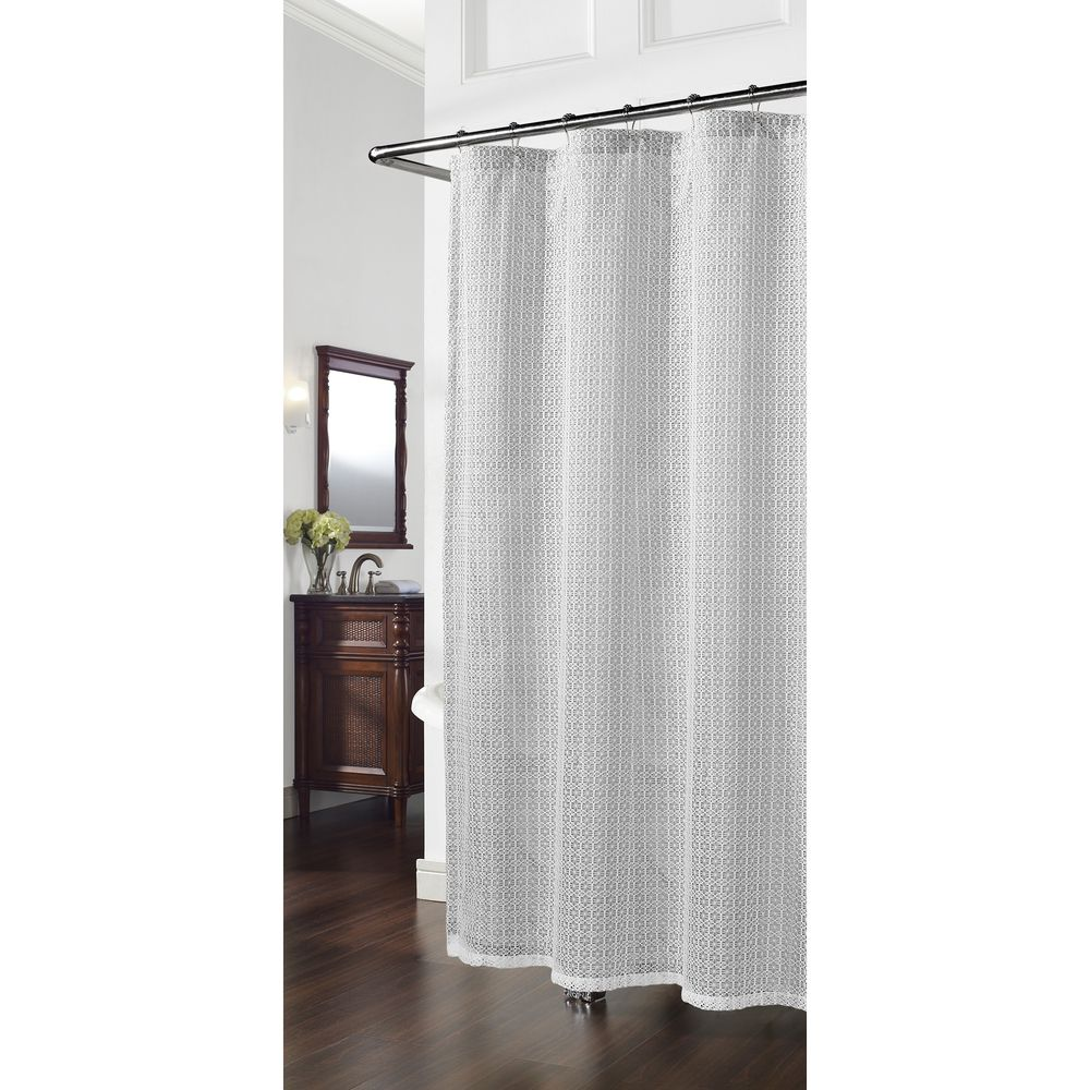 Cane grey geometric shower curtain overstock shopping great