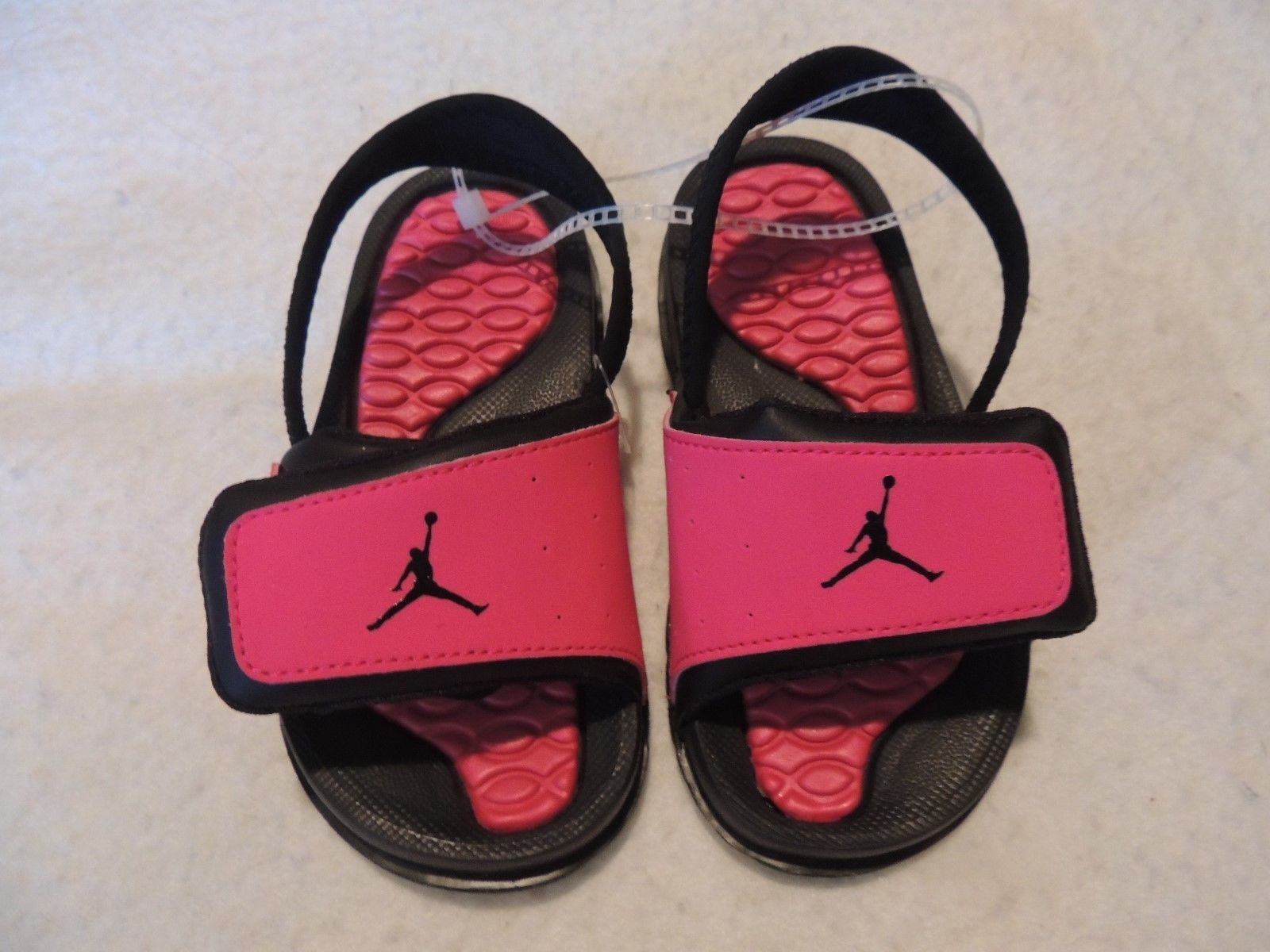 65646818fd0397 NWOT TODDLER GIRLS NIKE AIR JORDAN VELCRO SLIDES~SANDALS~SHOES~SIZE 8~black  pink
