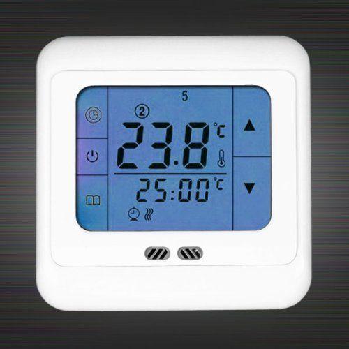 Blue Touch Screen Electric Floor Underfloor Heating System - Heated floor timer