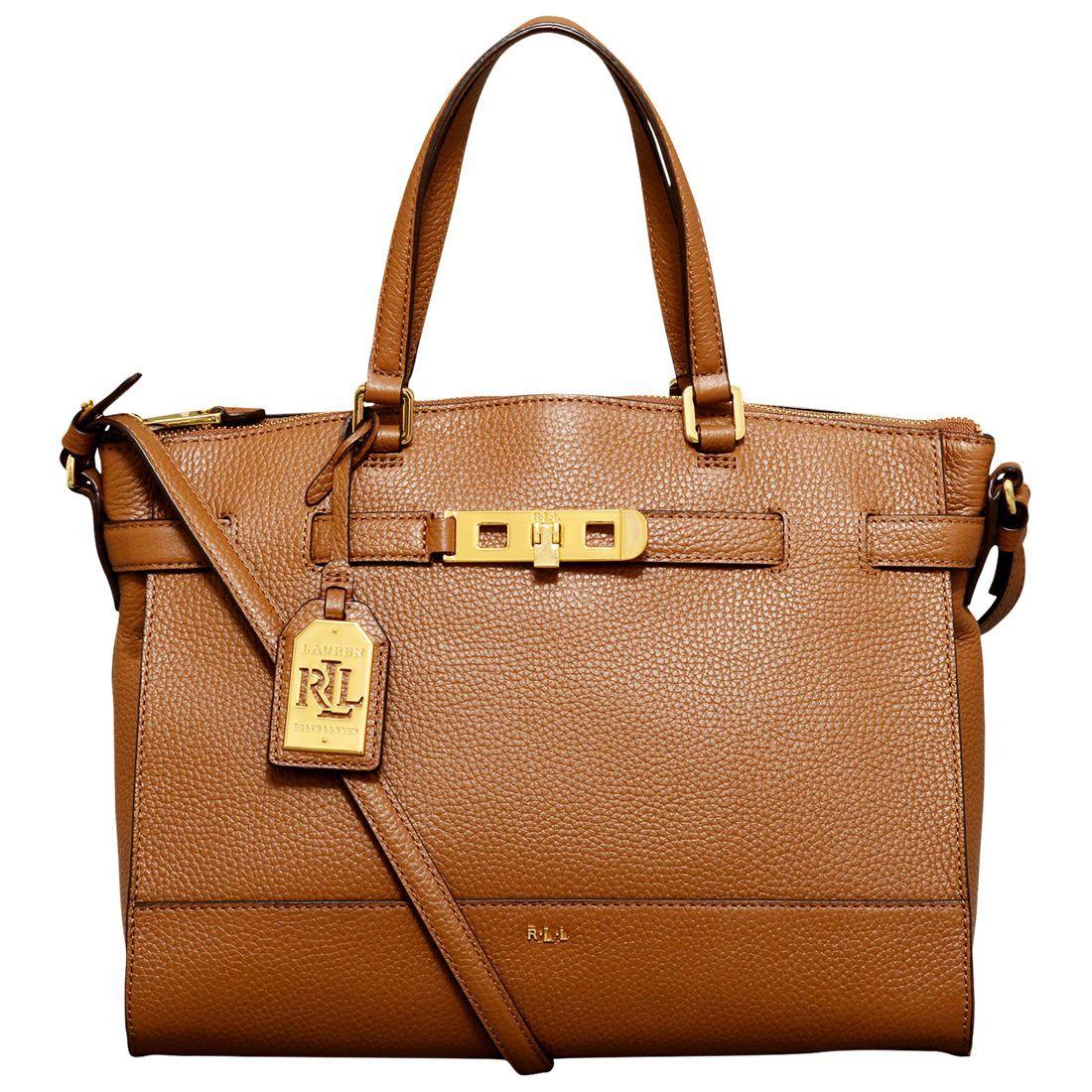 5ad415d2cb6dd Ralph Lauren Darwin Bridle Satchel Handbag