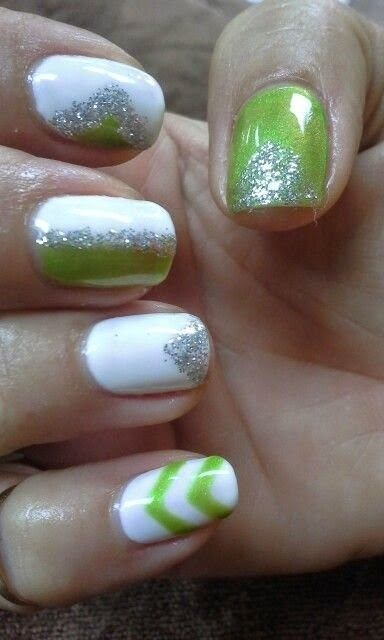 Gel Nail Designs For Summer 2014 Color Me Green Pinterest Routine