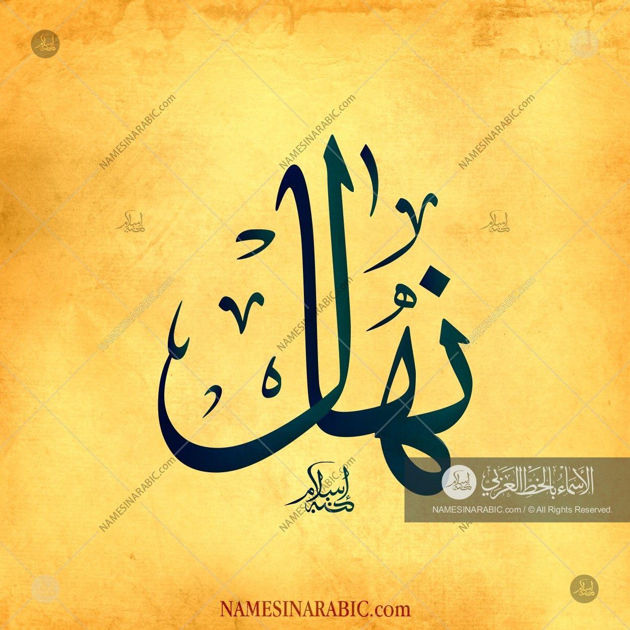 Nihal نهال Names In Arabic Calligraphy Name 2870 Calligraphy Name Calligraphy Names