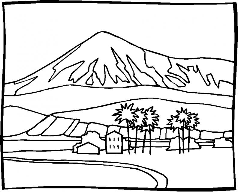 Worksheet. Dibujos para colorear paisajes