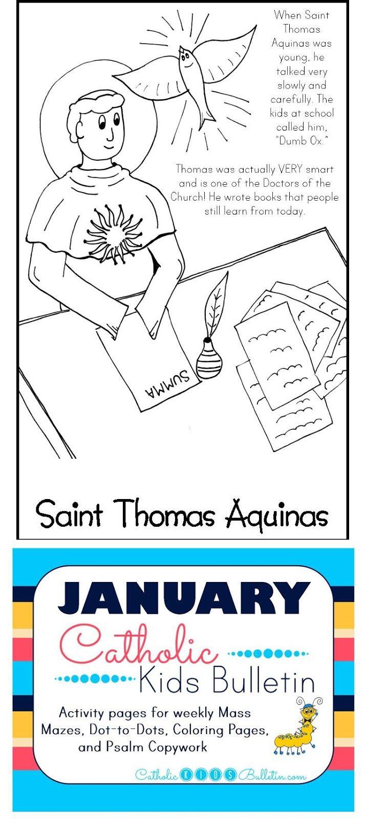 FREE Catholic Mass Bulletins and Coloring Pages! Saint Thomas ...