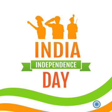 Holiday Poster With Military Silhouettes And Flag On India S Independence Day August Holiday Freedom Png And Vector With Transparent Background For Free Down Holiday Poster Independence Day Poster Independence Day