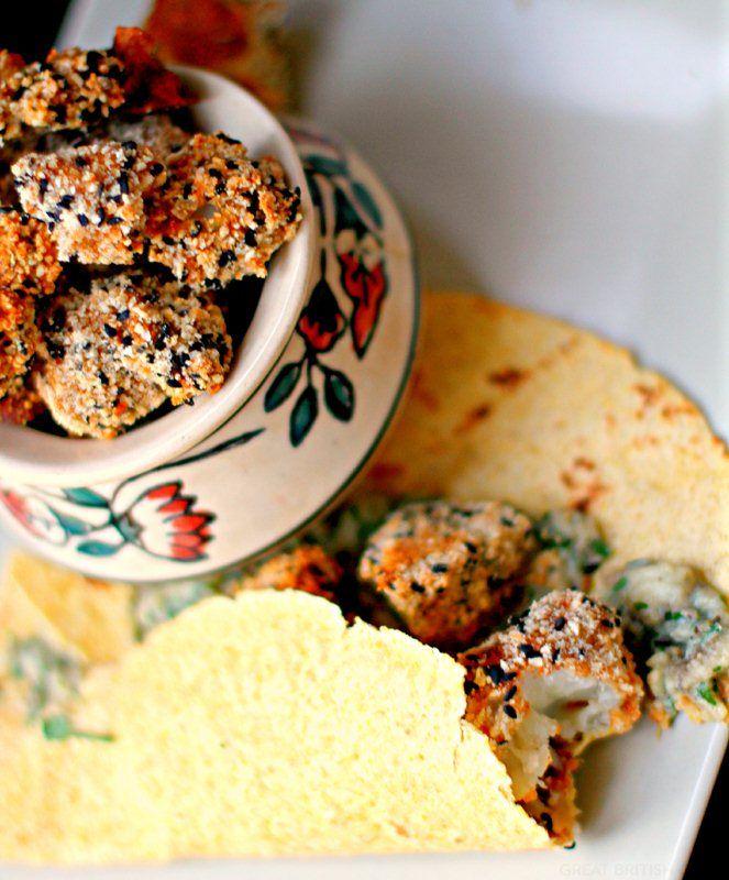 Mexican spiced cauliflower in an almond-sesame crust by Deena Kakaya - Great British Chefs