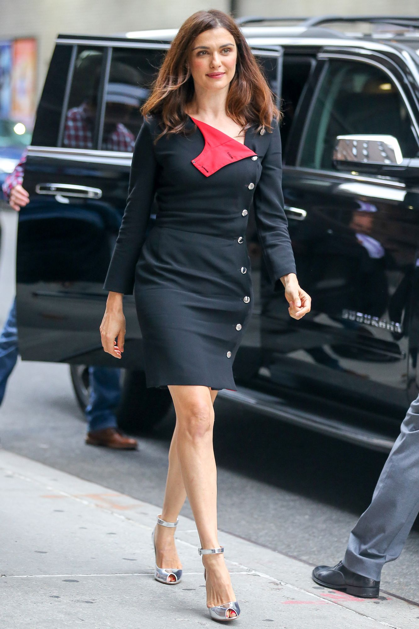 Rachel Weisz Is All Buttoned Up in Her Latest Street Style Look from InStyle.com