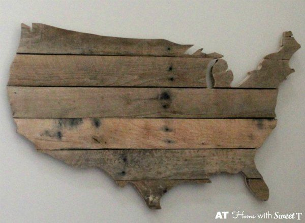 Th Of July Red White And Blue Patriotic Decor Pallets Pallet - Wood us map
