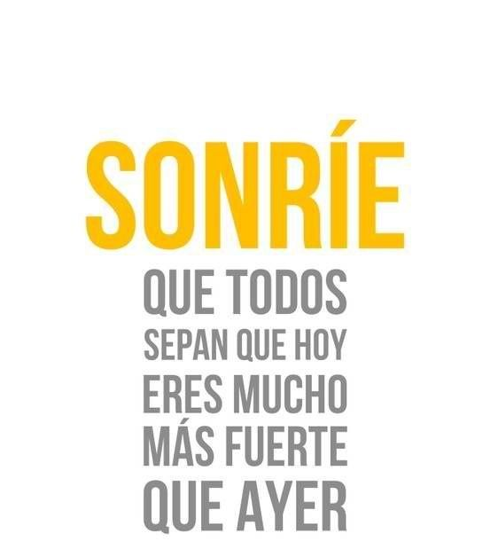 Smile And Let Everyone Know That Today Your A Lot Stronger Than Adorable Life Quotes In Spanish