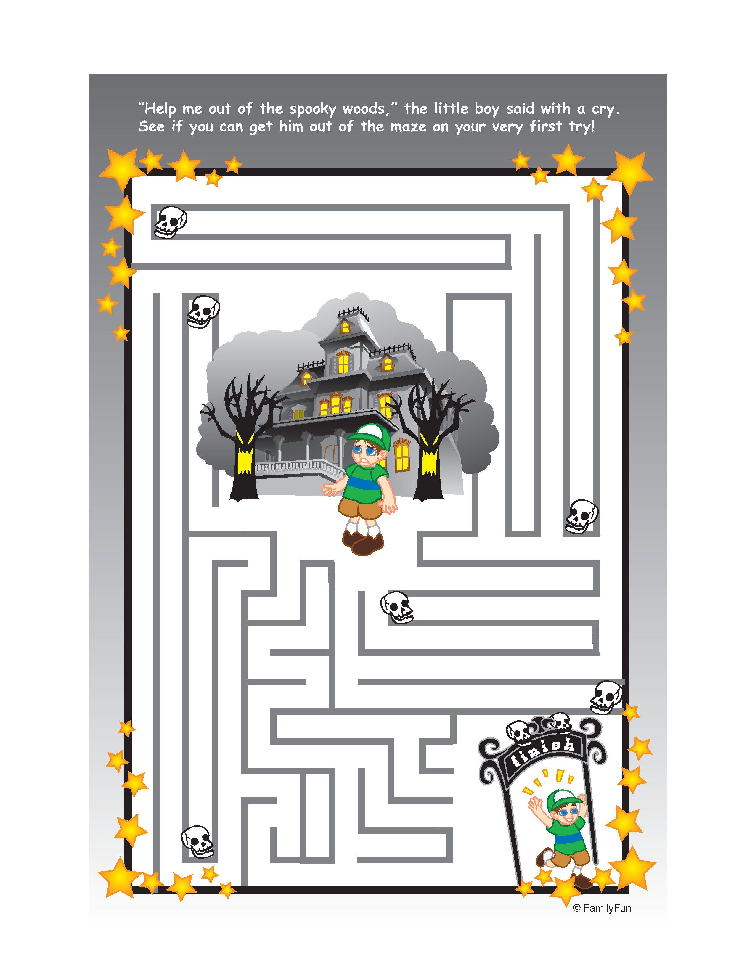 Halloween Paper Maze Eat For Goobags