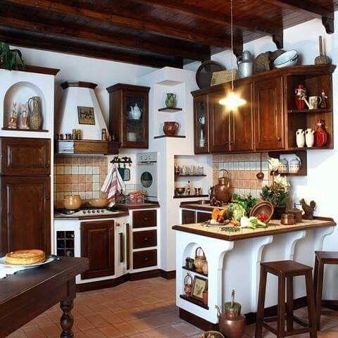 Cocina Mobili Rustici Da Cucina Arredamento Nicchia Idee Per La Cucina