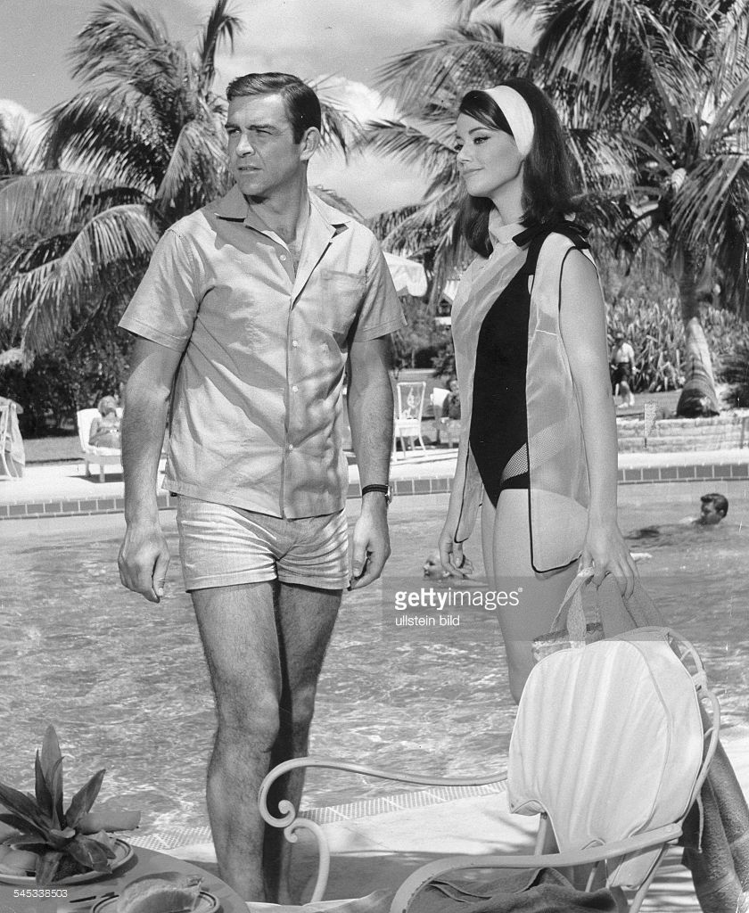 Sixties   Sean Connery and Claudine Auger at the Coral