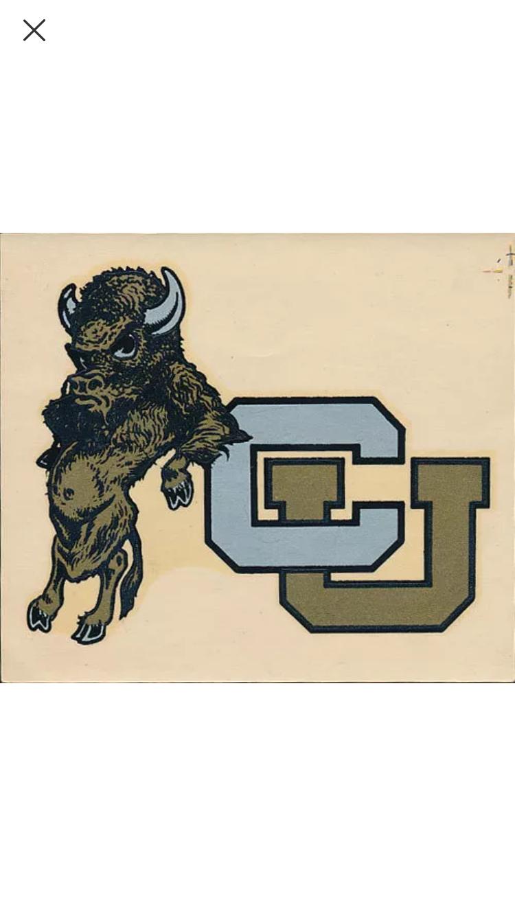 Colorado Buffaloes Buffalo Logo Vintage Logo Sports Logo