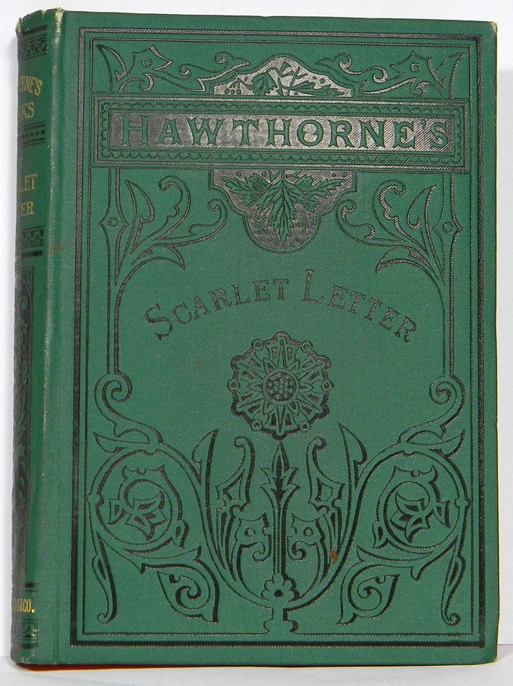THE SCARLET LETTER 1876 edition Book letters, Book worms