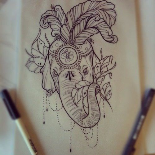 Pin By Newtattoo On My Body Is My Canvas Elephant Tattoo Design Indian Elephant Tattoo Tattoos