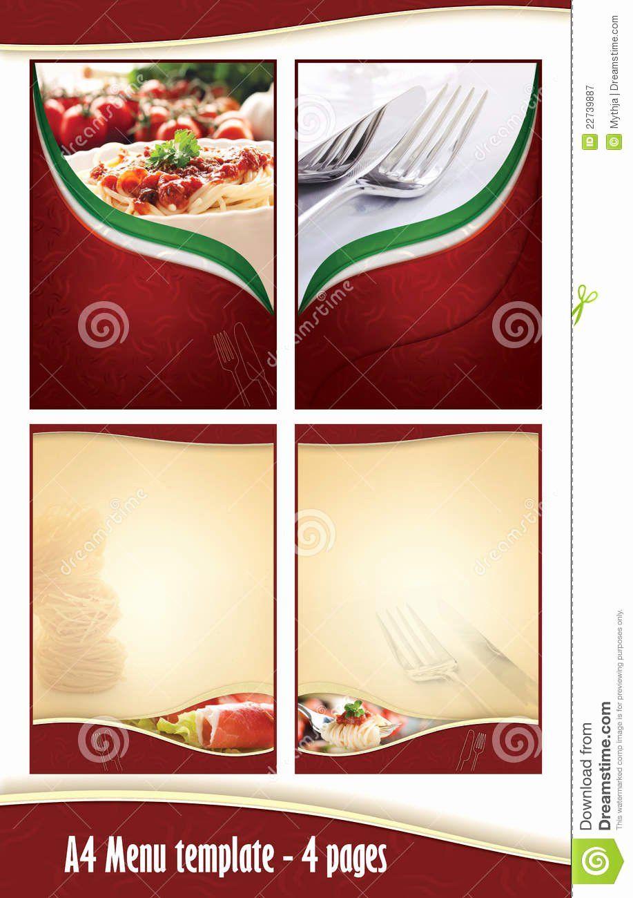 Best Of Blank Restaurant Menu Template In 2020 Menu Design