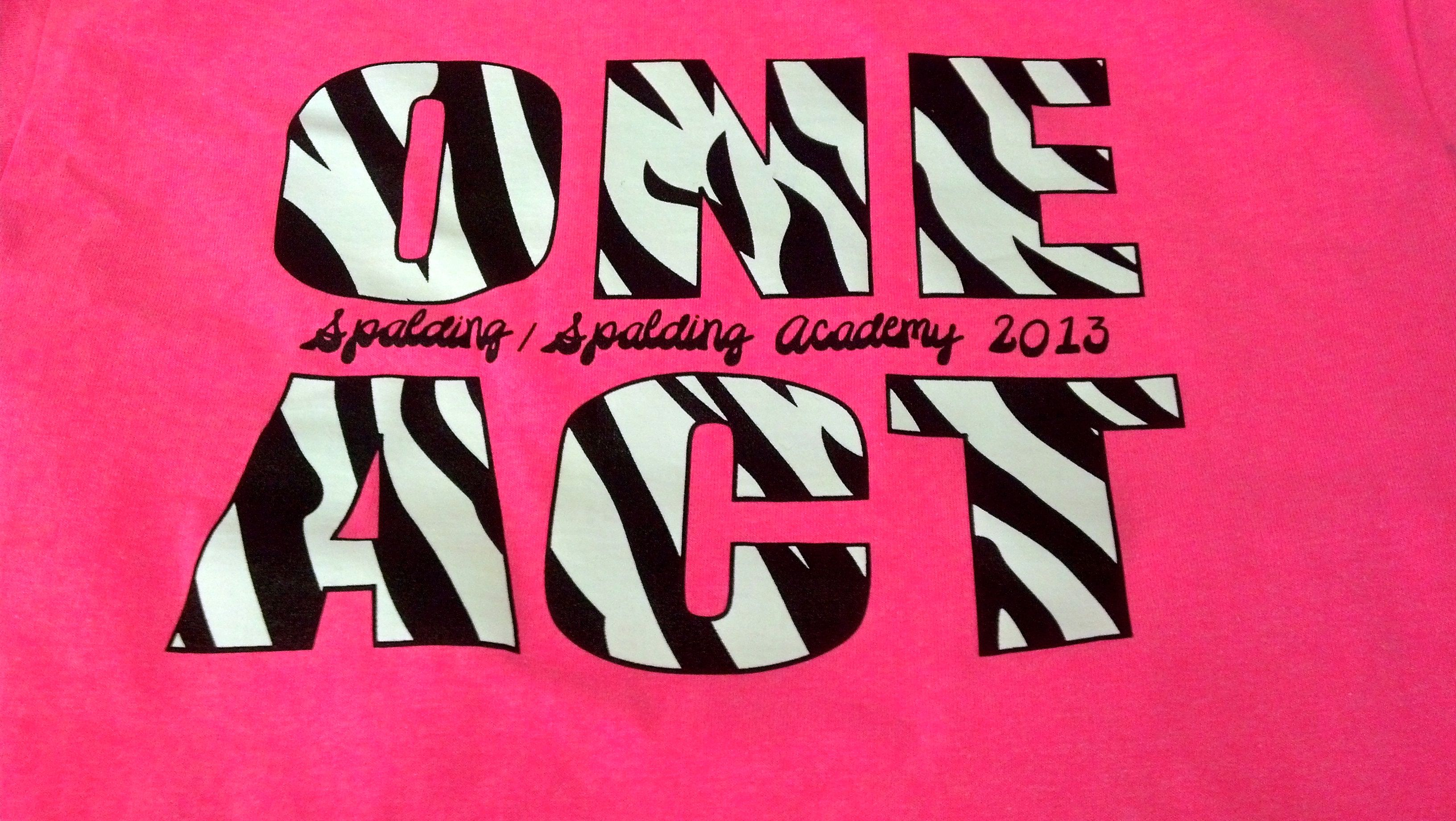 Zebra shirt design - Spalding Spalding Academy High School One Act Zebra Stripe T Shirt