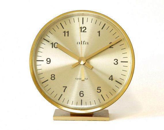 70s kienzle alfa desk table clock bauhaus mid century for Kaminuhr modern