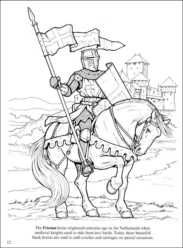 Knight on Horse coloring page | Free Printable Coloring Pages | 800x590