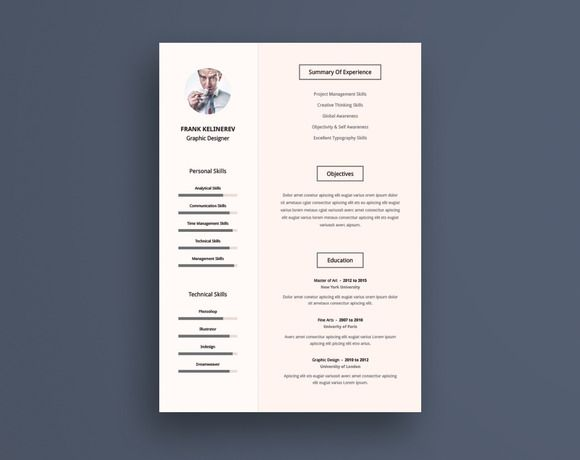 Pro Resume Cv Template by Graphic Pear on @creativemarket RESUME - what does a resume consist resume