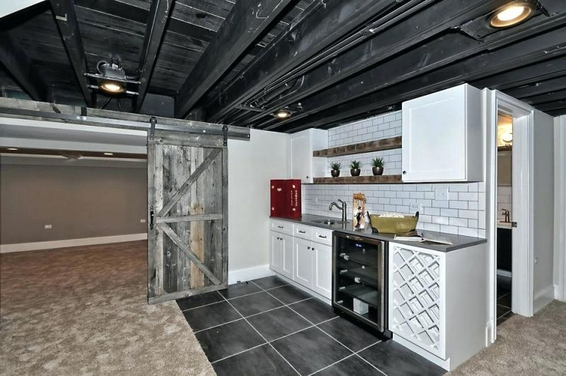 30 Gorgeous Unfinished Basement Ideas On A Budget In 2020