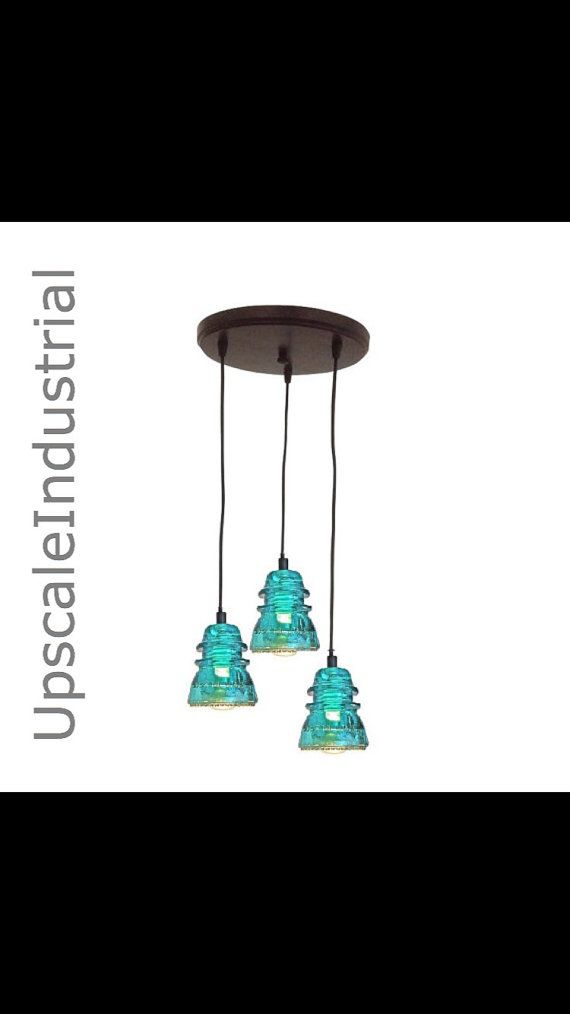 Insulator Lighting Chandelier VINTAGE 1920\'s-60\'s Repurposed ...