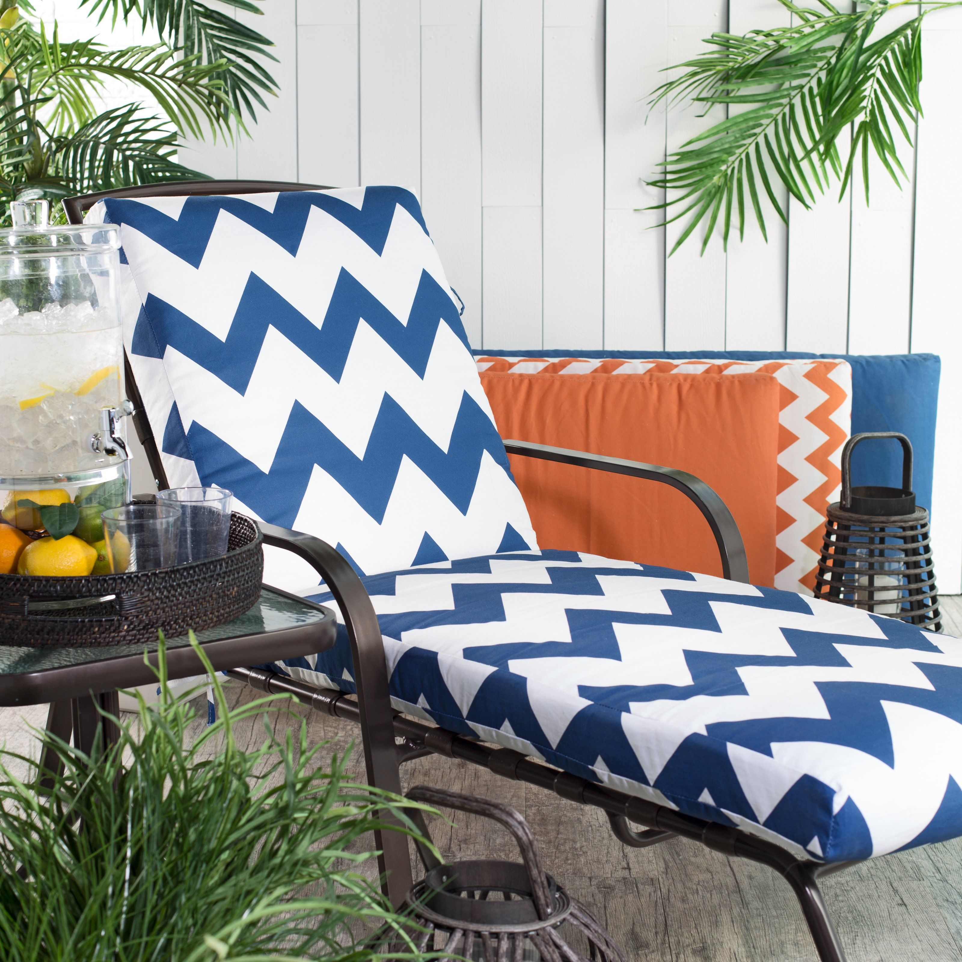 Attractive Coral Coast Valencia Outdoor Chaise Lounge Cushion   Boxed Edge