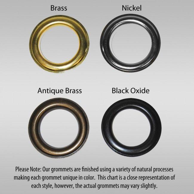 Binding 101 Grommets Buy Grommets Self Piercing Grommets Grommets Black Oxide Brass Nickel