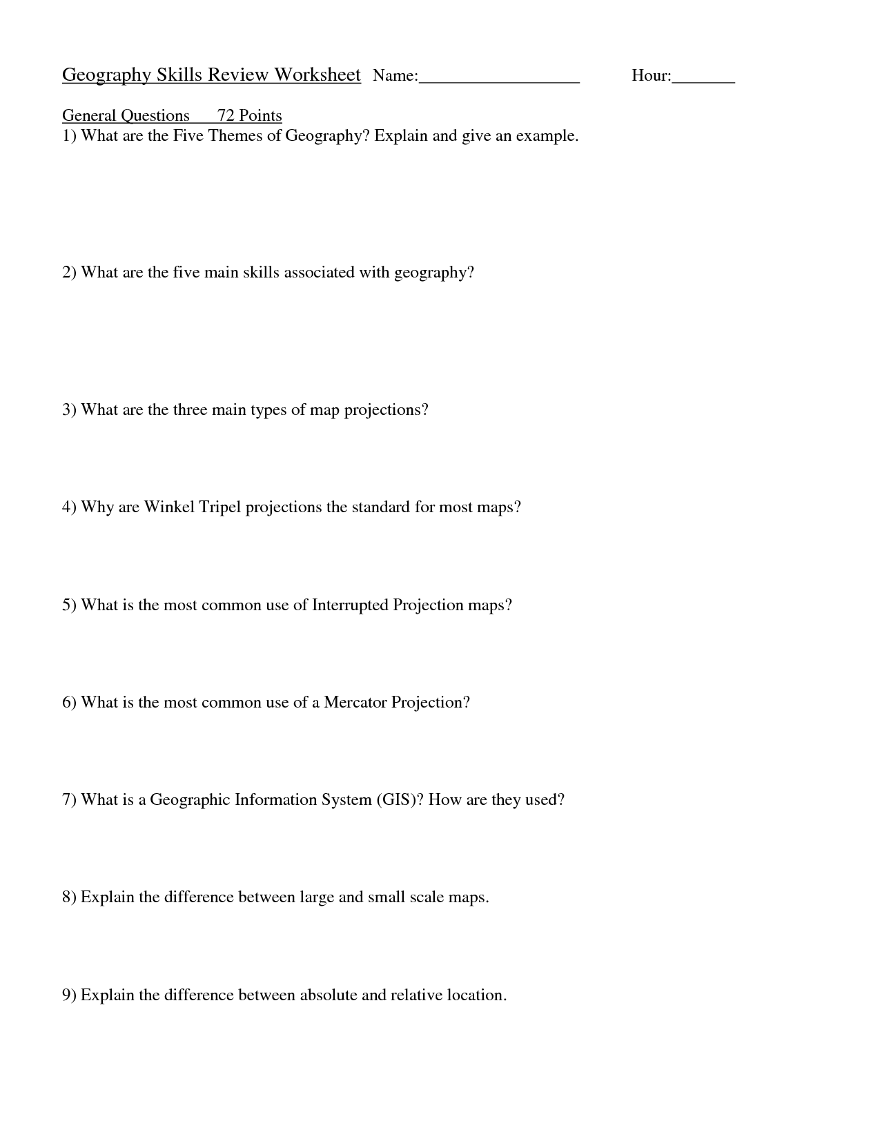 hight resolution of Economic Geography Worksheets   Printable Worksheets and Activities for  Teachers