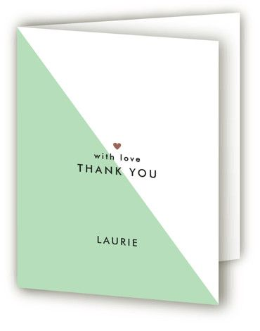 Colorblock Party Foil-Pressed Sweet Sixteen Party Thank You Cards