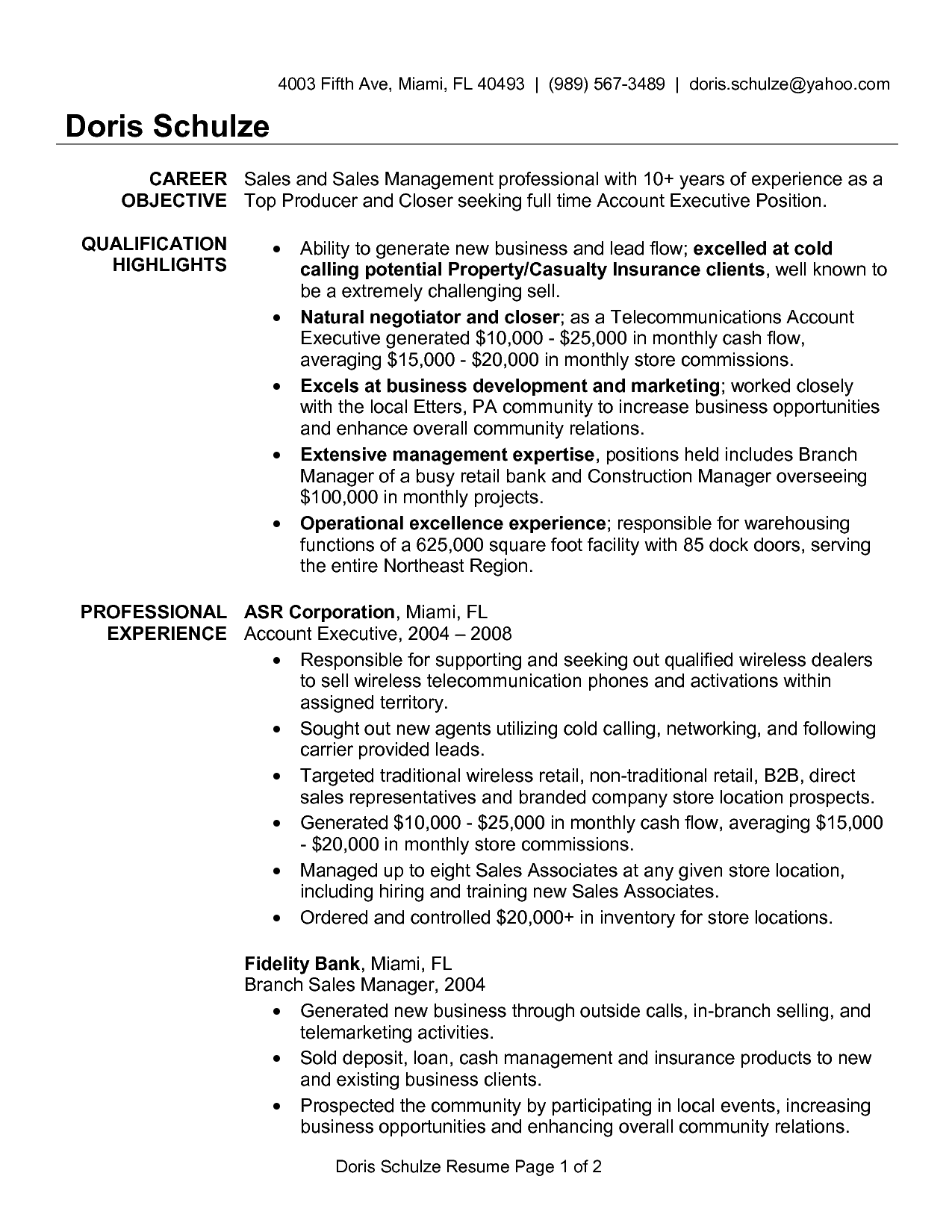 Agency Resume Sample Marketing Samples Hiring Account Executive