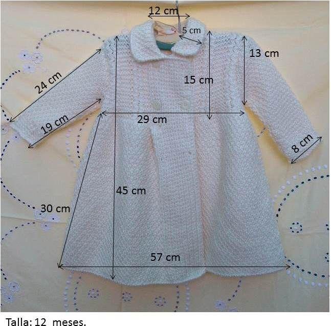 Medidas de un abrigo