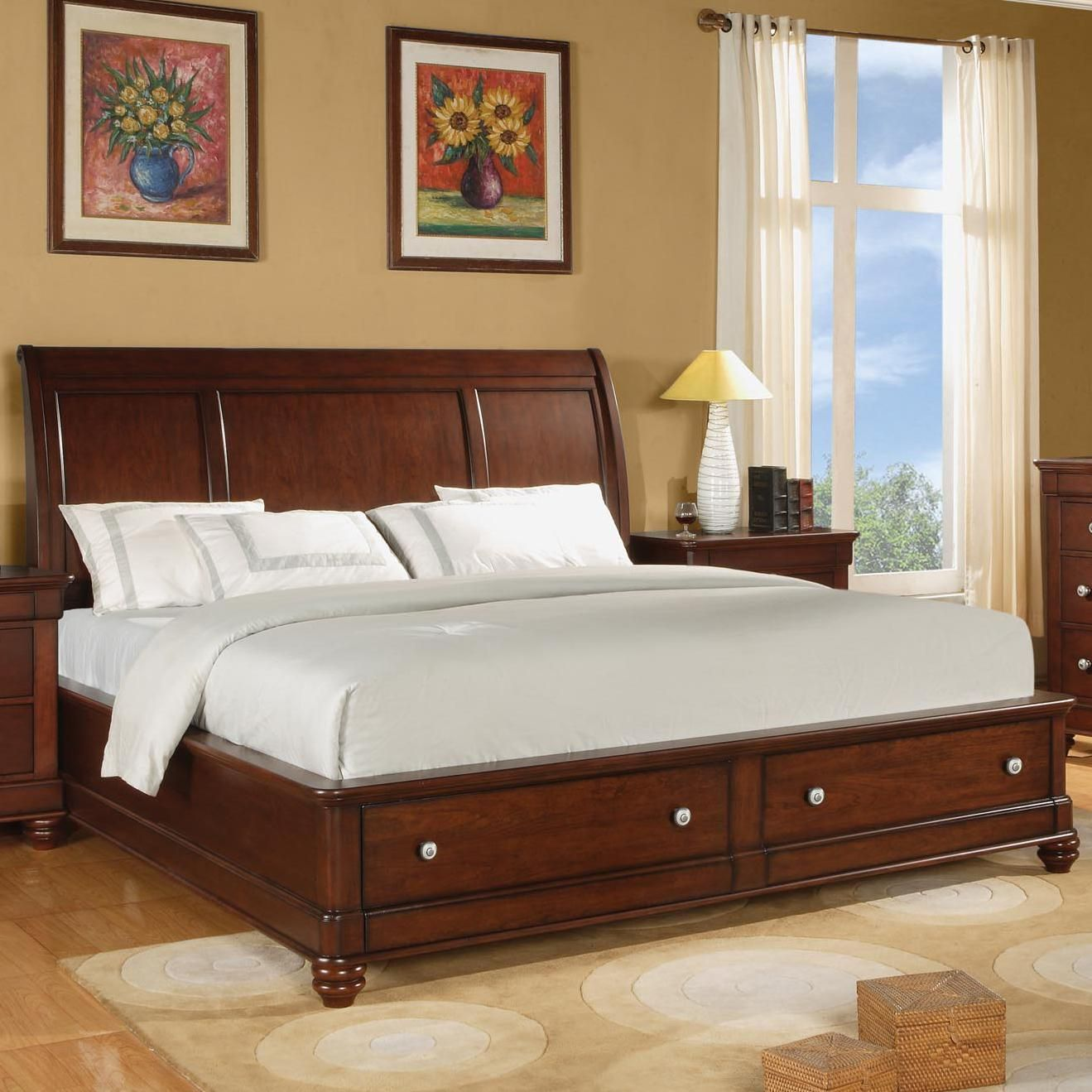 Olmsted King Storage Sleigh Bed By Flexsteel Wynwood Collection