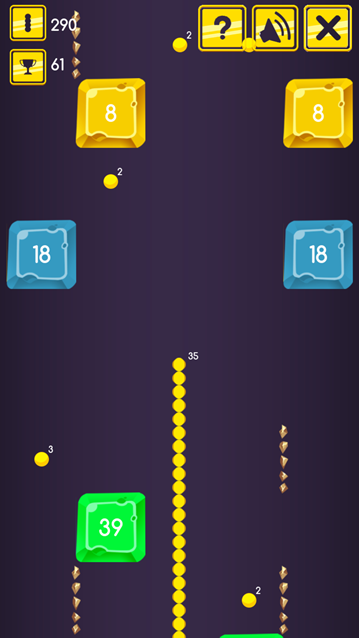 Snake vs Block (Admob + GDPR + Android Studio) | design