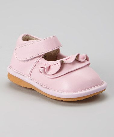 Look what I found on #zulily! Light Pink Ruffle Squeaker Mary Jane #zulilyfinds